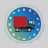 Truck interface concept Stock Photography