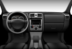 Truck interior - car dashboard Stock Image