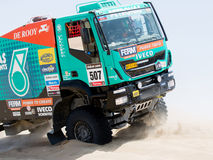 Truck iraces for Dakar 2013 Stock Photos