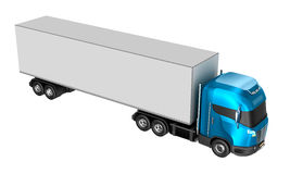 Truck isolated over white. Stock Photography