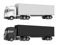 Truck isolated over white. Royalty Free Stock Images