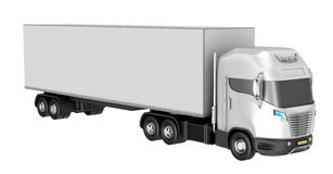 Truck isolated over white. Royalty Free Stock Photography