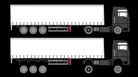 Truck isolated Royalty Free Stock Images