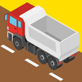 The truck in isometric projection Stock Photos