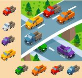 Truck Isometric set Stock Photo