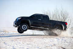 Truck jump Royalty Free Stock Photography