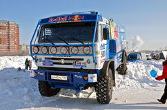 Truck the KAMAZ MASTER, shot in front Stock Image