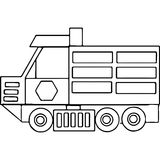 Truck kids coloring pages geometrical figures Stock Images