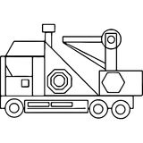 Truck kids coloring pages geometrical figures Royalty Free Stock Photo