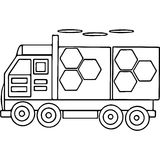 Truck kids coloring pages geometrical figures Royalty Free Stock Photos
