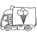 Truck kids coloring pages Stock Photography