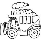Truck kids coloring pages Royalty Free Stock Image