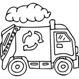Truck kids coloring pages Royalty Free Stock Photo