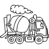 Truck kids coloring pages Royalty Free Stock Photos