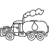 Truck kids coloring pages Stock Photo