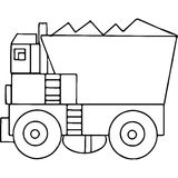 Truck kids geometrical figures coloring page Stock Photos