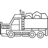 Truck kids geometrical figures coloring page Royalty Free Stock Photography