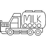 Truck kids geometrical figures coloring page Royalty Free Stock Images