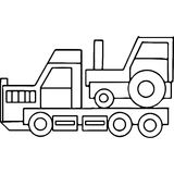 Truck kids geometrical figures coloring page Royalty Free Stock Photos