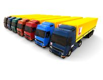 Truck learner driver fleet concept Stock Photography