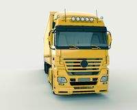 Truck on a light background Royalty Free Stock Photo