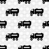 Truck on a light background seamless vector pattern Royalty Free Stock Photos