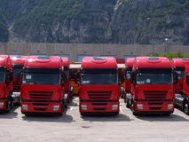 Truck line Royalty Free Stock Image