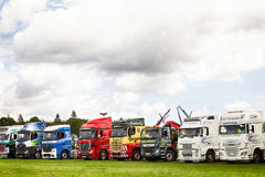 Truck lineup at Truckfest 2017 UK Royalty Free Stock Photography