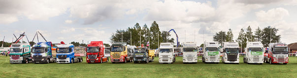 Truck lineup at Truckfest 2017 UK Royalty Free Stock Photos