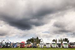 Truck lineup at Truckfest 2017 UK Royalty Free Stock Images