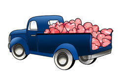 Truck load of hearts Royalty Free Stock Photography