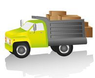 Truck loaded Royalty Free Stock Photo