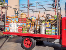 Truck loaded with fruits and vegetables at Hollywood Studios at Disney California Adventure Park Stock Photo