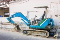 Truck loader car. Blue truck loader car in construction Stock Photo