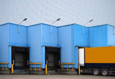 Truck loading Royalty Free Stock Photo