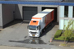 Truck in loading bay Stock Photos
