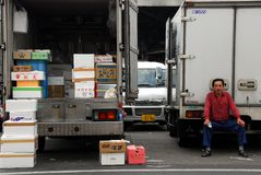 Truck loading Royalty Free Stock Photos