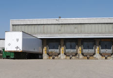 Truck loading dock. At warehouse or Shipping Facility Stock Images