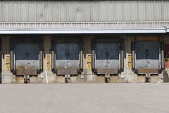 Truck loading dock royalty free stock photos