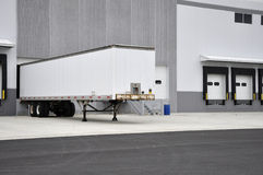 Truck and loading dock Royalty Free Stock Photos