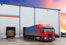 Truck in loading docks Stock Photography