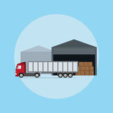 Truck loading Royalty Free Stock Images