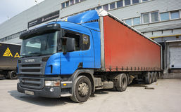 Truck at loading Stock Photography