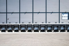 Truck loading station Stock Images
