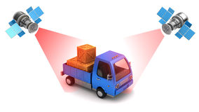 Truck location tracking Royalty Free Stock Image