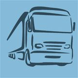 truck logo for cargo delivery company abstract vector illustration