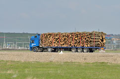 Truck with logs Royalty Free Stock Images