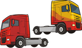 Truck and lorry. Large truck - transport and cargo Stock Photography