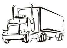 Truck, lorry, iosolated illustration Royalty Free Stock Images