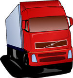 Truck, Lorry, Red, Road Stock Photo